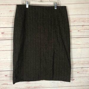 Banana Republic Factory Wool Blend Skirt Size 8